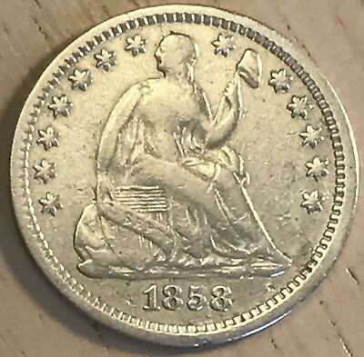 1858 O Seated Liberty Half Dime U.S. Mint New Orleans 90%Silver Coin BETTER DATE