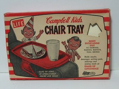 Vintage Campbell Kids T.v. Chair Eating Tray Life Magazine In Box