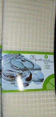DRYING MAT KITCHEN DISHES GLASSES Utensils Pots Pans Microfibre Soft Absorbent