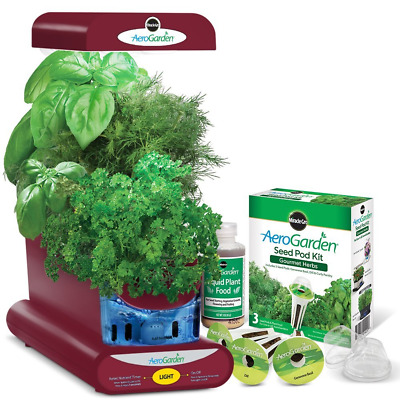 Miracle-Gro AeroGarden Sprout with Gourmet Herb Seed Pod Kit, Red