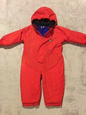 L.L. Bean Lined One Piece 24-36 Months Kids Girl Boy Snowsuit Overall 2T 3T Red