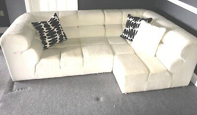 B&B Italia TUFTYTIME style two piece sectional sofa / chaise made Italy for KMP