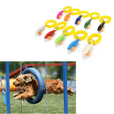 Dog Pet Click Clicker-Training Obedience Agility Trainer Aid Wrist Strap