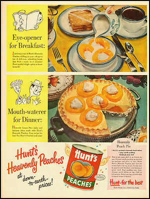 1940s vintage ad for Hunt's Peaches  -021712