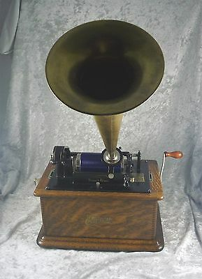 Antique Edison Wind Up Cylinder Records  Gramophone C 1905