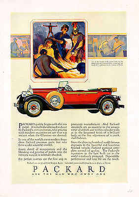 1928 Packard Car Ad----Convertible --- 8 1/2 x 12 In. .----1333
