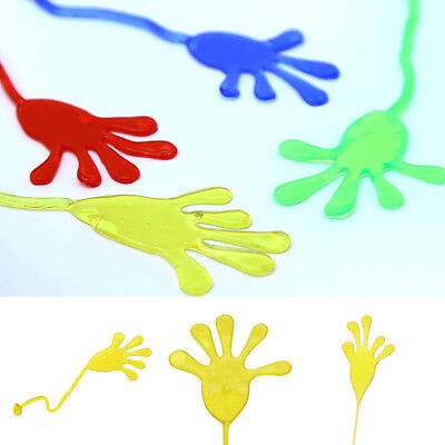 5Pcs Elastic Sticky Hands Party Bag Fillers Kids Birthday Christmas Toys Gifts