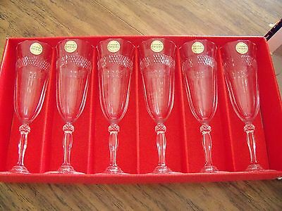 "Cristal d' Arques ""Annecy"" Flutes   24% Lead Crystal"