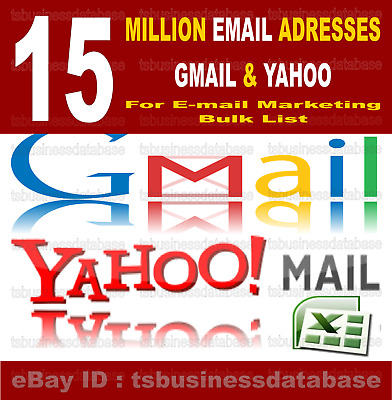 15 MILLION EMAIL GMAIL & YAHOO, Email Marketing Email List Email Bulk List