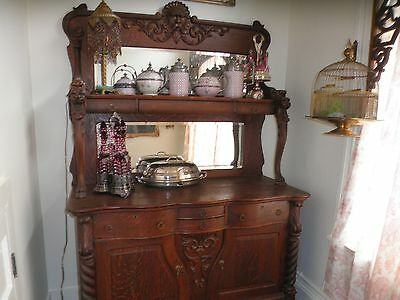 RJ Horner sideboard griffin north wind face Victorian