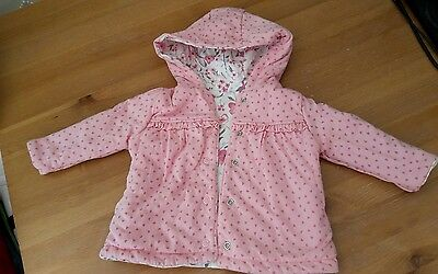Baby girl reversible jacket. Size 0-3months. NWOT