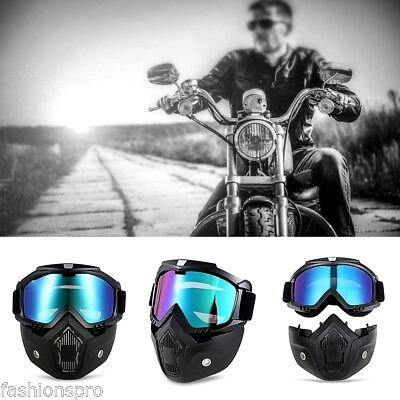 ROBESBON MT - 009 Motorcycle Goggles with Detachable Mask Protect Padding Helmet