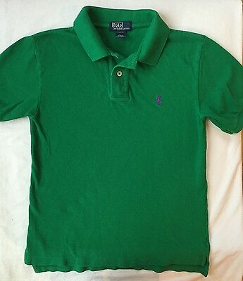 Ralph Lauren Polo Shirt Boys Size S (8 - 10) EUC Green Short Sleeve