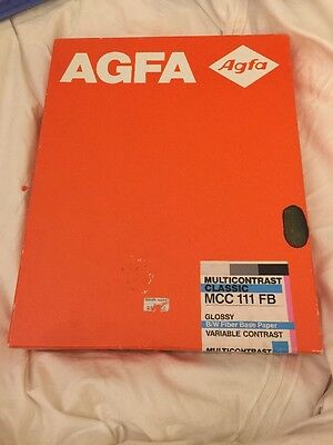New! Agfa 100 Multicontrast Classic MCC111FB Glossy BW Photo Paper Double Weight