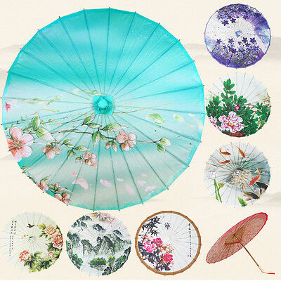 Chinese National Vintage Handmade Oil Paper Umbrella Parasol Dance Wedding Prop