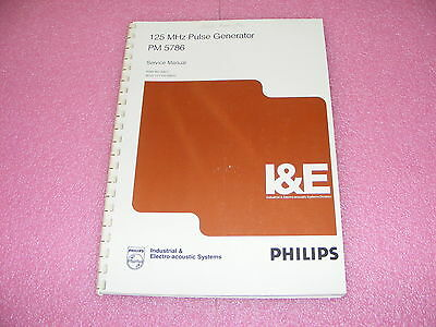 Philips I&e Pm5786 Pulse Generator Service Manual/schematics/parts /layouts