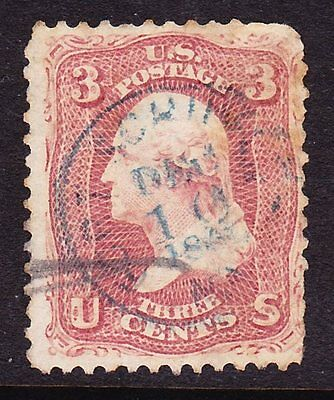 Scott 65, Used with Ft. Schuyler, NY Cancel, Helbock Rarity 6