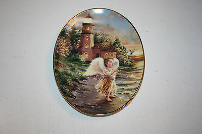 Lot of 2 The Bradford Exchange Plate An Angels Light Collection Dona Gelsinger