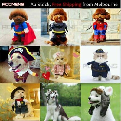 Pet Dog Cat Superhero Spiderman Batman Superman Costume Harness Cos Christmas