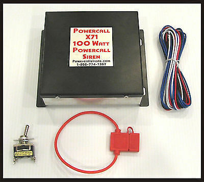 Powercall X71 Remote 2 Tone Powercall/Whoop Sirens 100 Watts - FREE SHIPPING