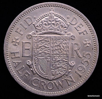 Great Britain 1/2 Crown 1955 Lot#A160