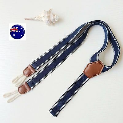 Boys Kids Children Baby Pants Fashion Denim Brace Suspender Belt 6month-4yr
