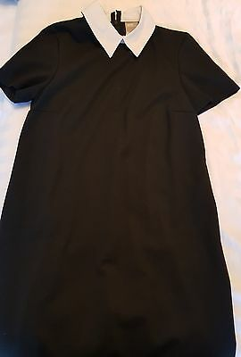 asos black white collar maternity dress size 8 UK