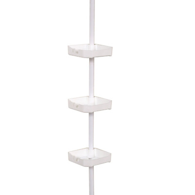 Zenith Products Bathtub and Shower Pole Caddy, White