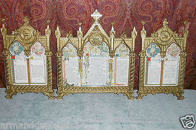 Trittico Cartagloria Cartaglorie  Neogotico Pray Holder Gothic Church Altar Card