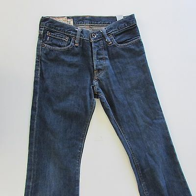 ABERCROMBIE Kids Blue Denim Jeans - BAXTER SLIM BOOT - Size 12 W27 L28 (3)