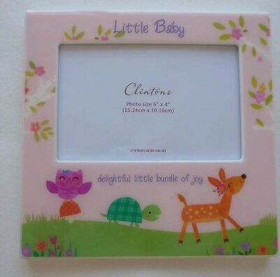 Clintons New Photo Frame Woodland  Baby Shower Gift UNISEX BNWT 6x4 Photo