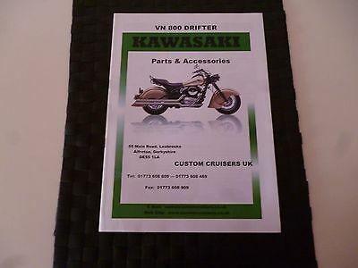 Kawasaki Vn 800 Drifter Parts & Accessories Catalogue *as Pictures*