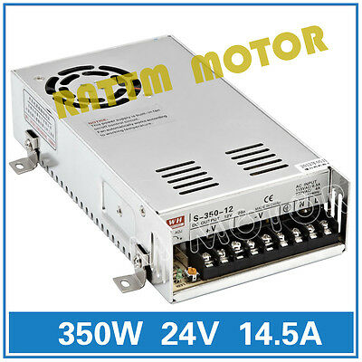 CNC 350W 24V Single Output Power Supply for CNC Router Engraving Machine