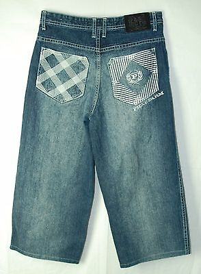 High WIDE Faded Embellished PHAT FARM Gaucho CROP Jeans! Child's 16