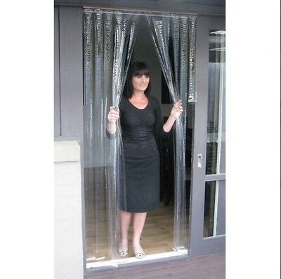 Door Curtain PVC - Clear - 900mm x 2000mm x 0.5mm Thick - ZONE HARDWARE - FS5788