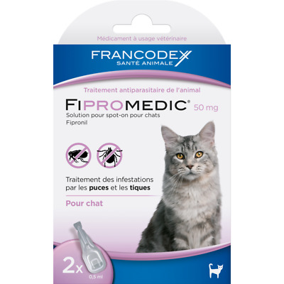 FIPROMEDIC Traitement antiparasitaire pour chat 2 pipettes