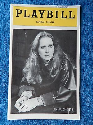 Anna Christie - Imperial Theatre Playbill - May 1977 - Liv Ullmann - Lithgow