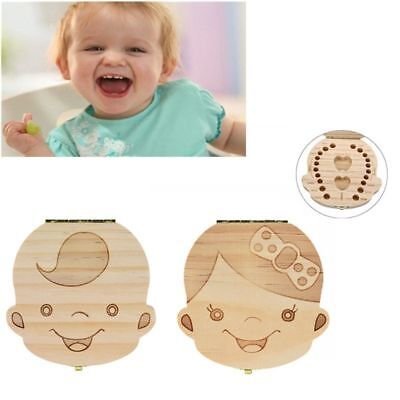 Wooden Baby Teeth Save Box Milk Teeth Organizer Personalized Cute Box For Kids