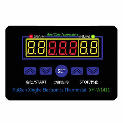 DC12V Digital LED Temperature Controller Thermostat Control Switch+Probe UP