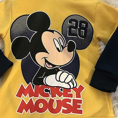 Disney Kids Hooded Pullover Size 3T Mickey Mouse Sweatshirt Toddler Hoodie