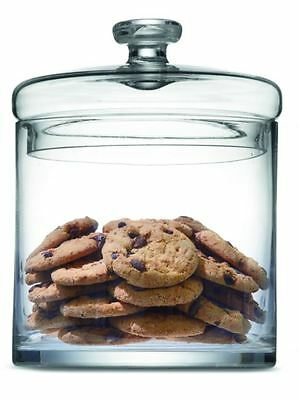 Straight Glass Jar Cookies Sided Thick Clear Smooth Lids Brand New Free Shipping