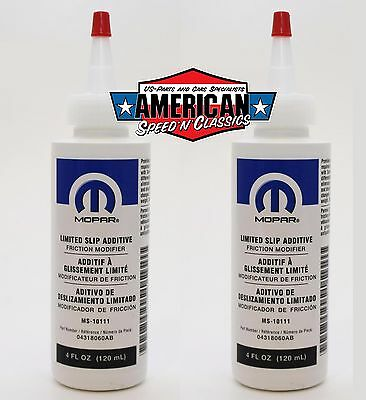 2x Mopar Limited Slip Jeep Chrysler Dodge Differenzialsperre 04318060AB  Öl