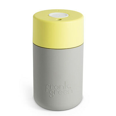 NEW Frank Green Grey & Pale Yellow Coffee Cup 340ml
