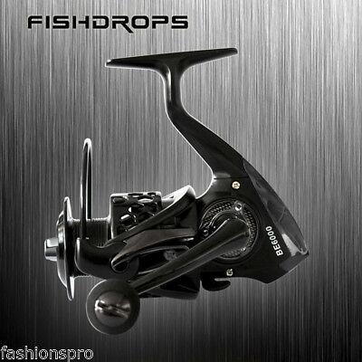 FISHDROPS Hollow-out Spinning Reel Fishing Tackle Lure with Foldable Handle