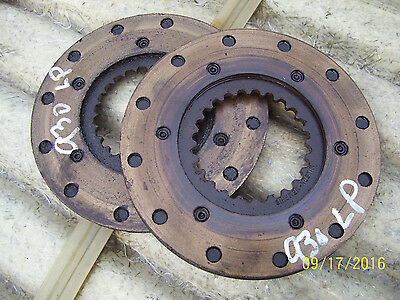 VINTAGE JI CASE 930 STD  TRACTOR - BRAKE DISC  x 2 - 1966