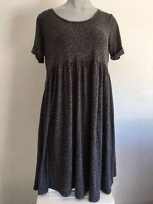 ASOS Maternity Dress Size 12 Grey Polyester/Cotton