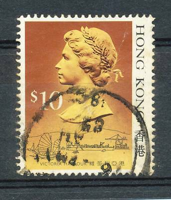 HONG KONG QEII   $10     SG 613 Used