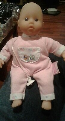 """Zapf Creation Baby Doll 8:""""-Cloth body Vinyl Limbs and Face- Pacifier"""