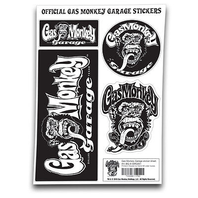 Gas Monkey Garage Fast N Loud Dallas Texas Affe Sticker Sheet Stickers Aufkleber