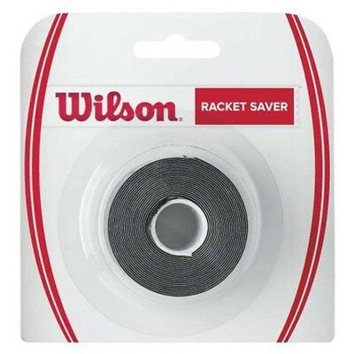Wilson Racket Saver Black Tape With White Logo - 32Mm Wide X 2.40M Long Rrp £15